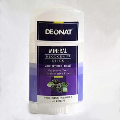 Купить Минеральный дезодорант кристалл с экстрактами коры тутовника, семян огурца, цветов гибискуса twist-up deonat