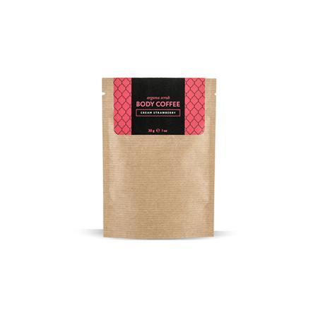 Купить Скраб кофейный клубника со сливками 30 г huilargan