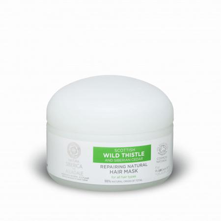 Купить Восстанавливающая маска для волос органический чертополох и дикий сибирский кедр alladale natura siberica