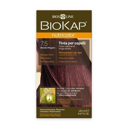 Купить Стойкая натуральная крем-краска для волос biokap nutricolor (цвет махагоновый блондин) biosline