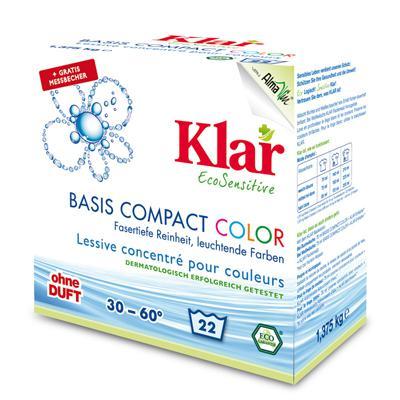 Купить Порошок для стирки цветного белья гипоаллергенный (1,375 кг) klar