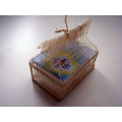 Купить Кристалл (плавл. брусок) в подарочной шкатулке, плетеной  из пальмы рапия tawas crystal