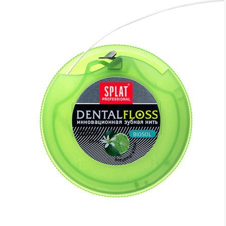 Купить Объемная зубная нить с бергамотом и лаймом splat