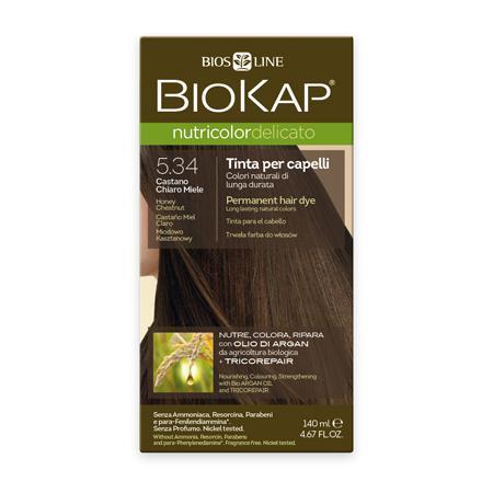Купить Стойкая крем-краска для чувствительных волос biokap nutricolor delicato (цвет медово-каштановый) biosline