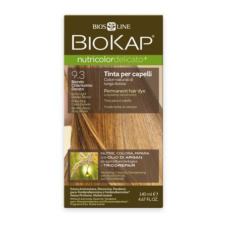 Купить Стойкая крем-краска для чувствительных волос biokap nutricolor delicato (цвет очень светлый золотистый блондин) biosline
