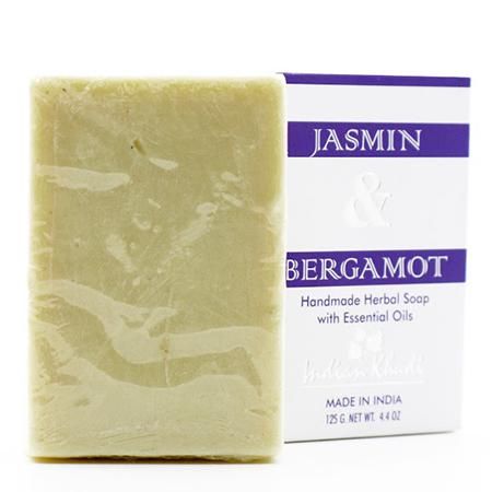 Купить Натуральное мыло с жасмином и бергамотом indian khadi