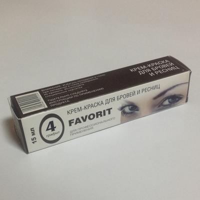 Купить Крем-краска для бровей и ресниц (№4 графит) favorit