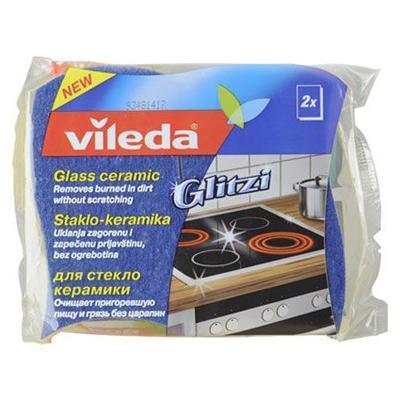Купить Губка для стеклокерамических плит 2 шт vileda