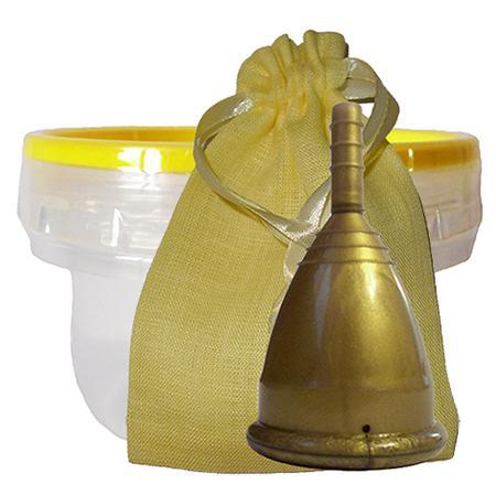 Купить Бронзовая менструальная капа в контейнере (размер s) cuplee