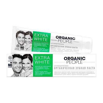 Купить Зубная паста extra white organic people