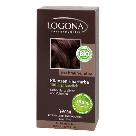 Купить Растительная краска для волос 090 « умбра темно-коричневый» logona