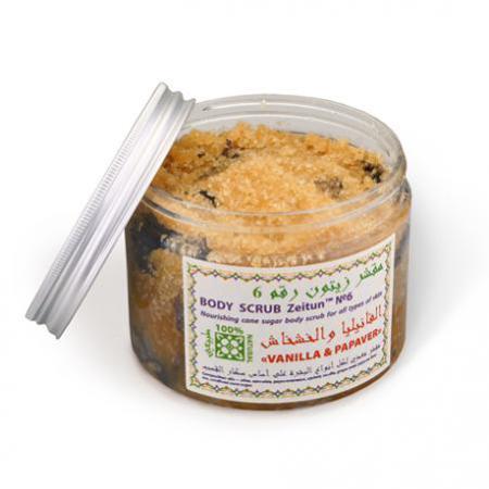 Купить Питательный сахарный скраб для всех типов кожи «ваниль и мак» зейтун