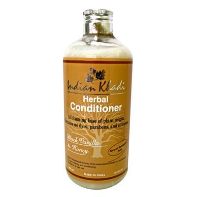 Купить Кондиционер для волос с черной ванилью и медом indian khadi