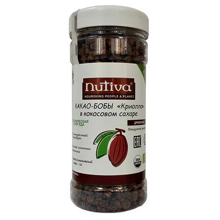 Купить Кусочки какао бобов в кокосовом сахаре nutiva