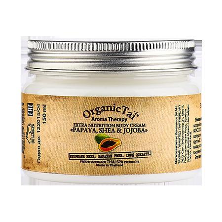 Купить Экстрапитательный крем для тела «папая, ши и жожоба» organic tai