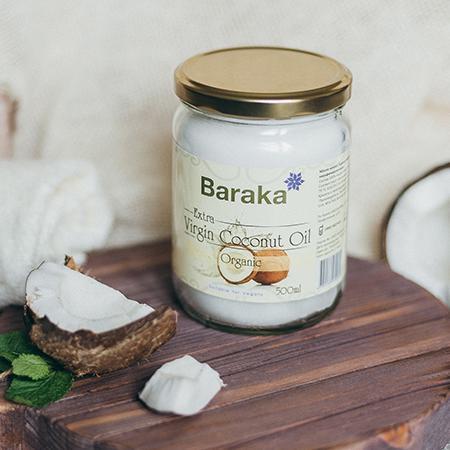 Купить Кокосовое масло вирджин органик био 500 мл стекло baraka