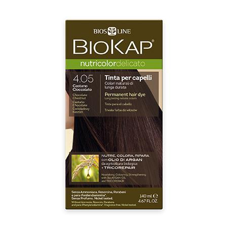 Купить Стойкая крем-краска для чувствительных волос biokap nutricolor delicato (цвет шоколадный каштан) biosline