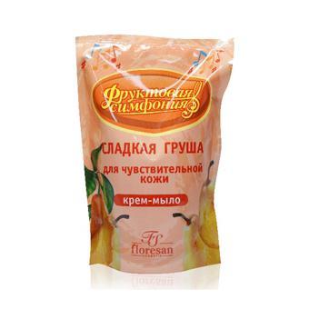 Купить Крем-мыло для чувствительной кожи сладкая груша сменный блок floresan