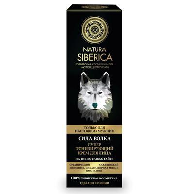 Купить Крем для лица тонизирующий для мужчин сила волка natura siberica