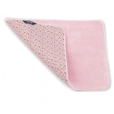 Купить Коврик для ванной комнаты 65х45 см розовый белый кот