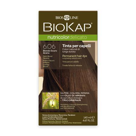 Купить Стойкая крем-краска для чувствительных волос biokap nutricolor delicato (цвет гавана) biosline