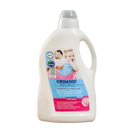 Купить Эко гель для стирки всех видов тканей super fresh organic people