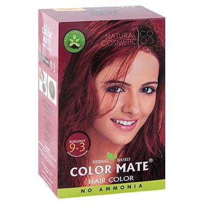 Купить Натуральная краска для волос на основе хны color mate (тон 9.3, бургундия) без аммиака