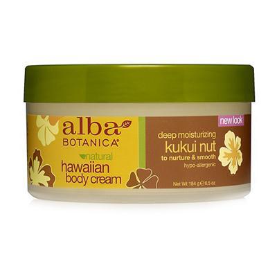 Купить Гавайский натуральный глубоко увлажняющий крем для тела kukui nut с маслом кукуйи alba botanica