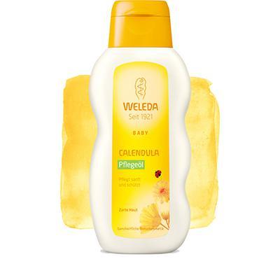 Купить Масло с календулой для младенцев с нежным ароматом weleda