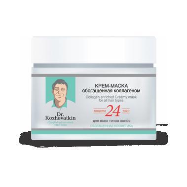 Купить Крем-маска, обогащенная коллагеном для всех типов волос доктор кожеваткин