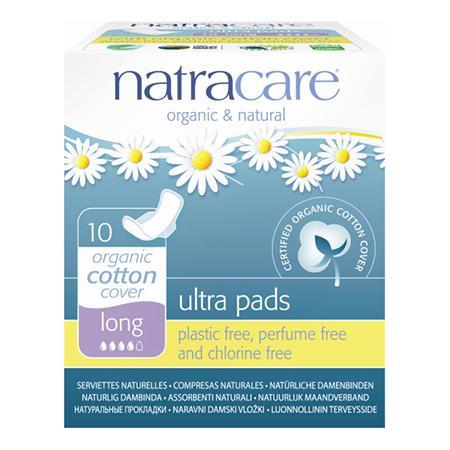 Купить Натуральные женские прокладки ultra pads long natracare