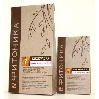 Купить Биокраска для волос фитоника №7 (цвет ярко-золотистый) (150 гр)