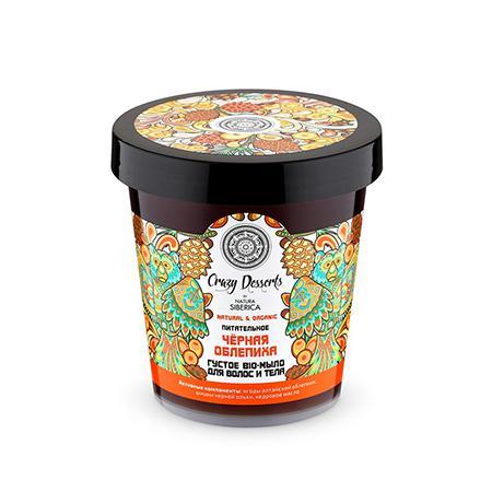 Купить Густое bio-мыло для волос и тела питательное «чёрная облепиха» crazy dessert natura siberica