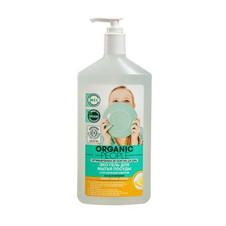 Купить Эко гель для мытья посуды с органическим лимоном green clean lemon organic people