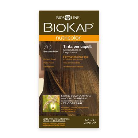 Купить Стойкая натуральная крем-краска для волос biokap nutricolor (цвет средний блондин) biosline