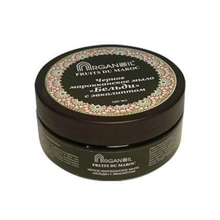 Купить Черное мыло бельди с эвкалиптом argana
