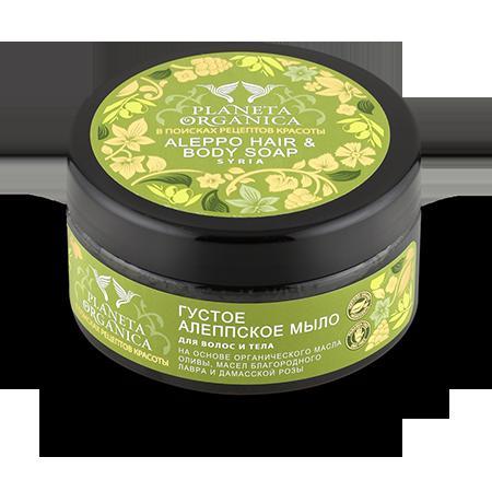 Купить Мыло для волос и тела алеппское planeta organica