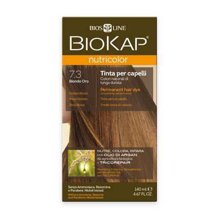 Купить Стойкая натуральная крем-краска для волос biokap nutricolor (цвет золотистый блондин) biosline
