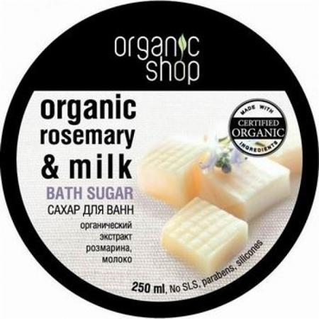 Купить Сахар для ванн «молочная карамель» organic shop