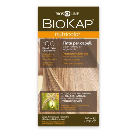 Купить Стойкая натуральная крем-краска для волос biokap nutricolor (цвет золотистый очень светлый блондин) biosline