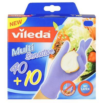 Купить Перчатки хозяйственные одноразовые размер s/m vileda