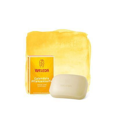 Купить Растительное мыло с календулой и лекарственными травами weleda
