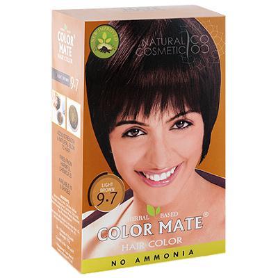 Купить Натуральная краска для волос на основе хны color mate (тон 9.7, светло-коричневый) без аммиака