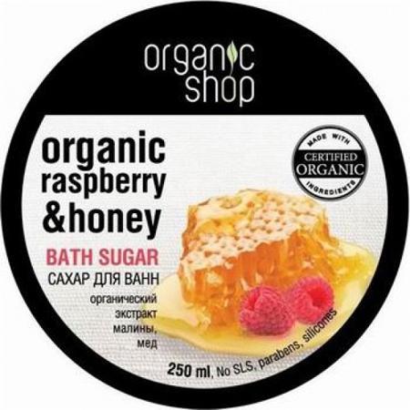Купить Сахар для ванн «малиновый мед» organic shop