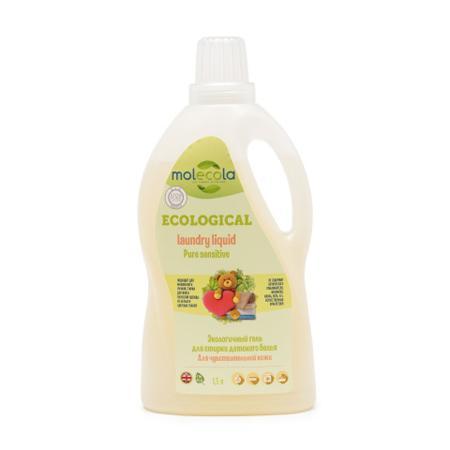 Купить Гель для стирки детского белья pure sensitive для чувствительной кожи экологичный molecola