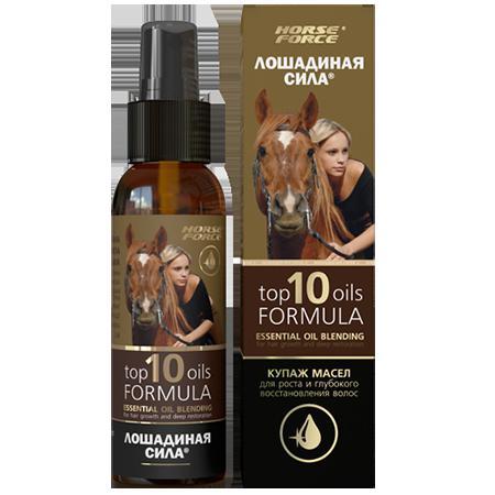 Купить Купаж масел для роста и глубокого восстановления волос top 10 oils formula хорс форс