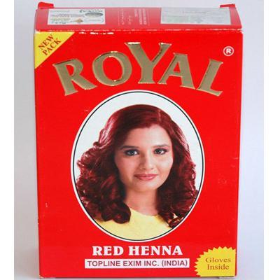 Купить Хна натуральная для окрашивания волос, бровей и ресниц красная royal