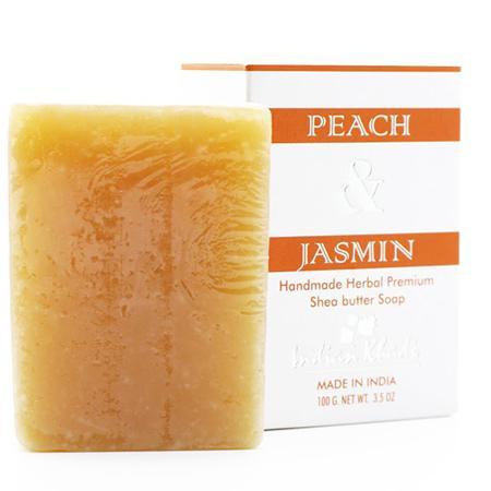 Купить Натуральное мыло с маслом ши, жасмином и персиком indian khadi