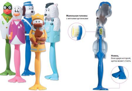 Купить Детская зубная щетка kid´s brush bull (в футляре в виде быка) miradent/docdont