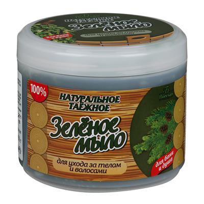Купить Натуральное таежное мыло для бани и душа для ухода за телом и волосами зеленое floresan